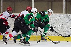 Klemen Drozg of Olimpija during Erste Bank Young Stars League ice hockey match between HD Jesenice Mladi and HK Olimpija, on November 4, 2012 in Ledena dvorana Bled, Bled, Slovenia. (Photo by Matic Klansek Velej / Sportida.com)