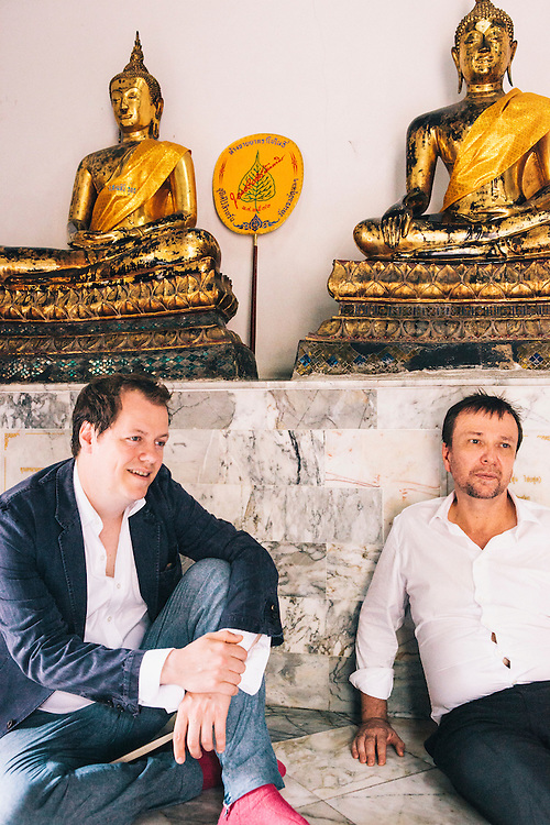 David Thompson and Tom Parker-Bowles at the Royal Place, Bangkok