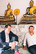 David Thompson and Tom Parker-Bowles at the Royal Place, Bangkok