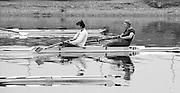 Staines, GREAT BRITAIN,   <br /> Stroke, Kim THOMAS and Alison BONNER, competing at the <br /> British Rowing Women's Heavy Weight Assessment. Thorpe Park. Sunday 21.02.1988,<br /> <br /> [Mandatory Credit, Peter Spurrier / Intersport-images] 19880221 GBR Women's H/Weight Assesment Thorpe Park, Surrey.UK