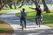 People Riding Bikes in Cerritos Park