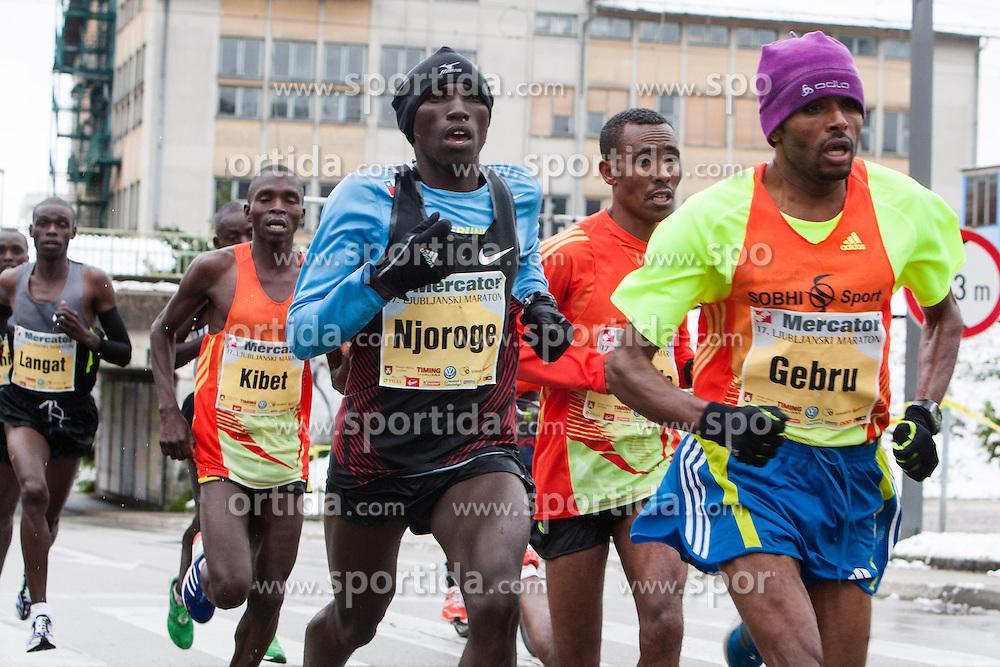 Birhanu Gebru of Ethiopia at 17th Ljubljana Marathon 2012 on October 28, 2012 in Ljubljana, Slovenia. (Photo By Matic Klansek Velej / Sportida.com)