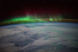 "EARTH Aboard the International Space Station -- 01 Mar 2016 -- NASA astronaut Scott Kelly tweeted this aurora image over Canada on Jan. 21, 2016 with the message: """"O Canada! Beneath thy shining skies. You were beautiful this morning! --. EXPA Pictures © 2016, PhotoCredit: EXPA/ Photoshot/ Scott Kelly/Atlas Photo Archive/<br />