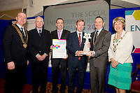 A Galway company providing cloud based channel enablement solutions to leading global IT companies has scooped the ?10,000 top prize in the 2012 SCCUL Entrepreneurship awards. (SCCUL is an acronym for St. Columba's Credit union Ltd. SCCUL Enterprises Ltd )..Established in 2010, Channel Mechanics provides IT software and services to support large scale manufacturers increase their revenues when leveraging tiered distribution as a way to market..Headquartered in the Reseach & Innovation Centre in NUI Galway, Channel Mechanics now employs 14 people and has a client base of global marketing leading IT vendors..Kenneth Fox, Chief Technical Officer  and Sean O Connell Senior Business Analyst of Channel Mechanics was presented with his prize by An Taoiseach, Enda Kenny TD at the SCCUL Entrepreneurship Awards Prize Giving Ceremony in the Ardilaun Hotel Galway. Picture :Andrew Downes