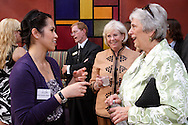(from left) Rachel Gearhardt of MCL Restaurant & Bakery, Christine Quijote-Oakes of QCG Accounting and Financial Management Solutions, .Don Schweitzer of Day Air Credit Union,.WiBN founder Jeanne Porter and Mary Bajus of Sinclair Community College and private practice during a BBB/Women in Business Networking event in the atrium of the Kuhn Building in downtown Dayton, Thursday, July 14, 2011.
