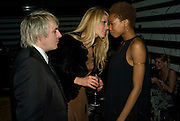 Nick Rhodes, Meredith Ostron and Tallulah Adeyemi , Weinstein Bafta after-party in association with Chopard. Bungalow 8. London. 10  February 2008.  *** Local Caption *** -DO NOT ARCHIVE-© Copyright Photograph by Dafydd Jones. 248 Clapham Rd. London SW9 0PZ. Tel 0207 820 0771. www.dafjones.com.