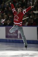 London, Ontario ---10-01-17--- Scott Moir skates in the gala at the conclusion of the 2010 BMO Canadian Figure Skating Championships in London, Ontario, January 18, 2010. .GEOFF ROBINS/Mundo Sport Images.
