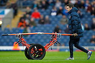 An interesting contraption used to carry off Marco Djuricin of Brentford during the Sky Bet Championship match between Blackburn Rovers and Brentford at Ewood Park, Blackburn<br /> Picture by Mark D Fuller/Focus Images Ltd +44 7774 216216<br /> 07/11/2015
