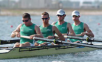 20040815 Olympic Games Athens Greece [Rowing]<br /> Photo  Peter Spurrier <br /> IRL LM4-<br /> Left Paul Griffen, Niall O'Toole, Eugene Coakley and Richard Archibald, move away from the start in their heat of the lightweight men's four, on the second day of the olympic regatta at Schinias.