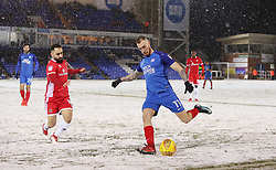 Marcus Maddison of Peterborough United is closed down by Erhun Oztumer of Walsall - Mandatory by-line: Joe Dent/JMP - 27/02/2018 - FOOTBALL - ABAX Stadium - Peterborough, England - Peterborough United v Walsall - Sky Bet League One