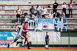 Arh Cesen Kristjan of NK Triglav  and Tine Kavcic of ND Gorica during Football match between NK Triglav Kranj and ND Gorica in 30th Round of Prva liga Telekom Slovenije 2018/19, on May 2nd, 2019, in Sports park Kranj, Slovenia. Photo by Grega Valancic / Sportida