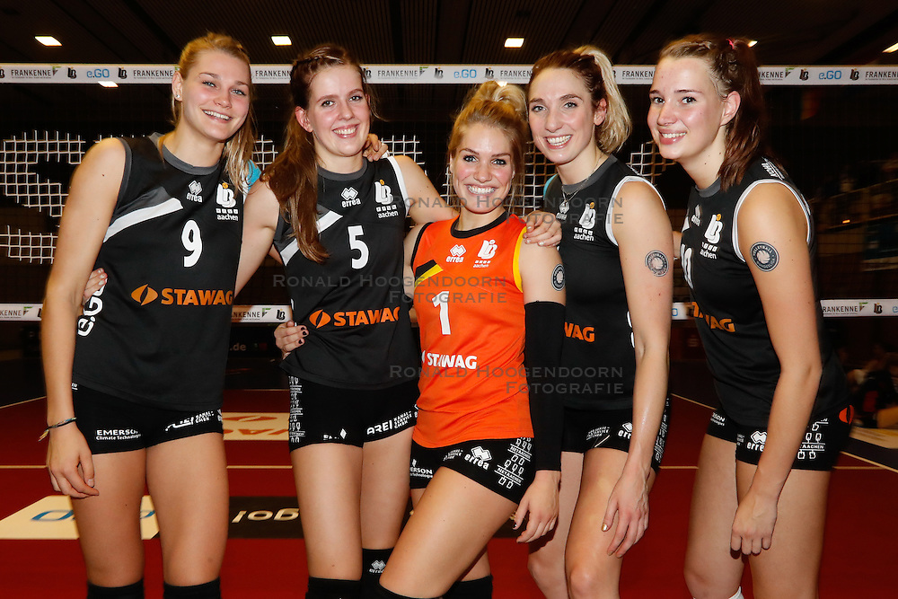 20161106 DUI: Bundesliga, Ladies in Black Aachen - MTV Allianz Stuttgart: Aachen<br />Nika Daalderop (9), Tessa Polder (5), Kirsten Knip (1), Jeanine Stoeten (8), Nicole Oude Luttikhuis (10) of Ladies in Black Aachen<br />&copy;2016-FotoHoogendoorn.nl / Pim Waslander