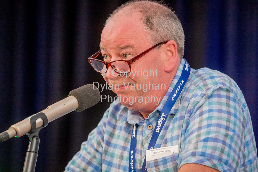 1-6-17<br /> <br /> Anthony Stafford Dublin North pictured at the IMPACT Conference in Wexford.<br /> <br /> Picture Dylan Vaughan.