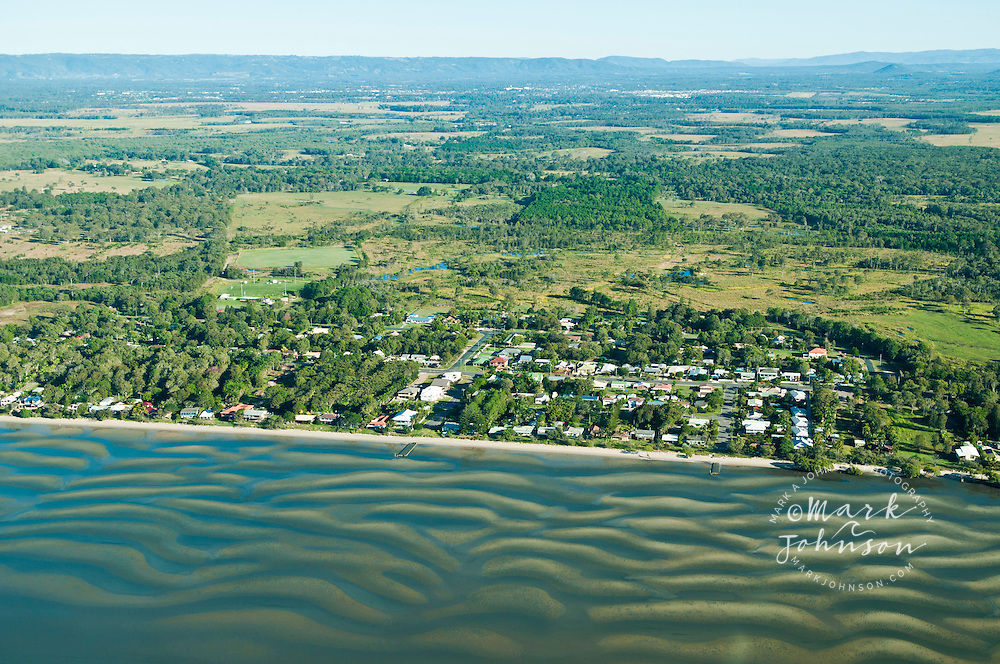 Aerial view of Beachmere, Moreton Bay, Queensland, Australia
