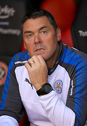 """Leicester City Head Physiotherapist Dave Rennie during the Carabao Cup, Second Round match at Bramall Lane, Sheffield. PRESS ASSOCIATION Photo. Picture date: Tuesday August 22, 2017. See PA story SOCCER Sheff Utd. Photo credit should read: Tim Goode/PA Wire. RESTRICTIONS: EDITORIAL USE ONLY No use with unauthorised audio, video, data, fixture lists, club/league logos or """"live"""" services. Online in-match use limited to 75 images, no video emulation. No use in betting, games or single club/league/player publications."""