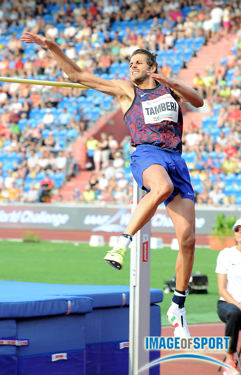 Giancarlo Tamberi (ITA) places seventh in the high jump at 7-2 1/2 (2.20m) during the 56th Ostrava Golden Spike in an IAAF World Challenge meeting at Mestky Stadion in Ostrava, Czech Republic on Wednesday, June 28, 20017. (Jiro Mochizuki/Image of Sport)