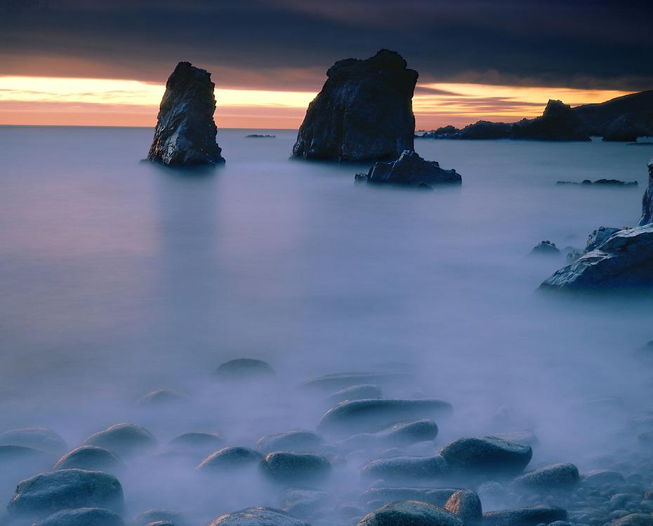 Twilight surf, Big Sur Coast, California