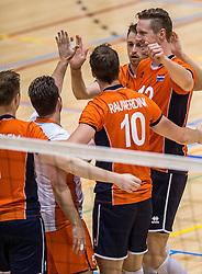 05-06-2016 NED: Nederland - Duitsland, Doetinchem<br /> Nederland speelt de laatste oefenwedstrijd ook in  Doetinchem en speelt gelijk 2-2 in een redelijk duel van beide kanten / Kay van Dijk #12, Robbert Andringa #18