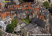aerial photograph of  High Petergate   York Yorkshire England UK   Drone style aerial view taken in York Great Britain