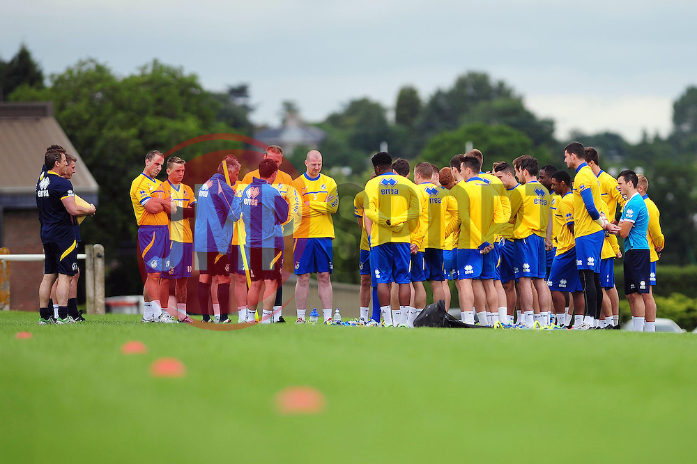The Bristol Rovers' squad gather together before training starts - Photo mandatory by-line: Dougie Allward/JMP - Tel: Mobile: 07966 386802 24/06/2013 - SPORT - FOOTBALL - Bristol -  Bristol Rovers - Pre Season Training - Npower League Two