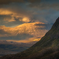 Last light over Conival, Assynt, Sutherland