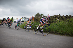Ashleigh Moolmann-Pasio (RSA) of Cervélo-Bigla Cycling Team leans into a corner during the Aviva Women's Tour 2016 - Stage 3. A 109.6 km road race from Ashbourne to Chesterfield, UK on June 17th 2016.