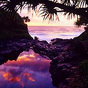 Stunning Oheo Gulch in Haleakala National Park on Maui, Hawaii.