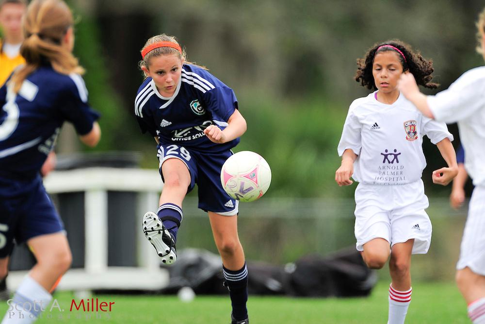 VSI U11 girls vs. OCYS in CDL at Seminole Soccer Complex in Sanford, Florida April 20, 2013. .©2013 Scott A. Miller