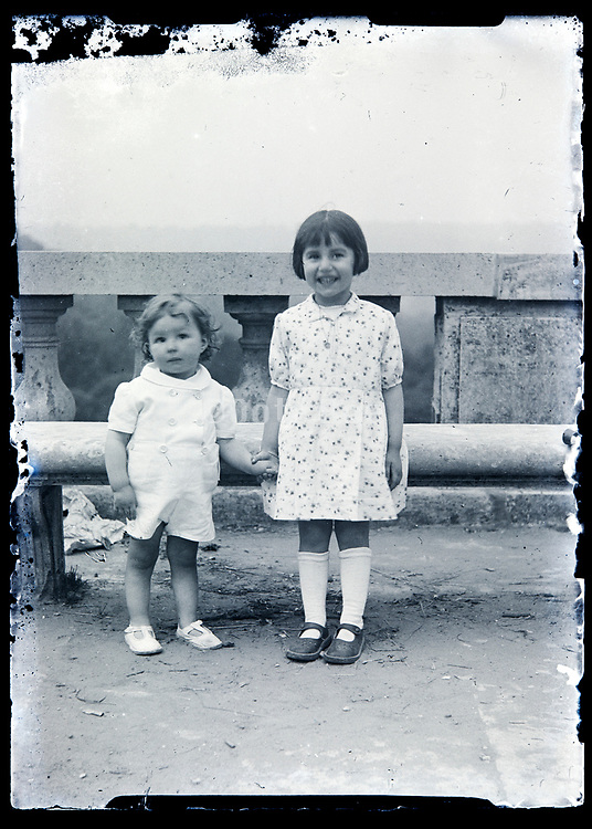 two little children France circa 1920s