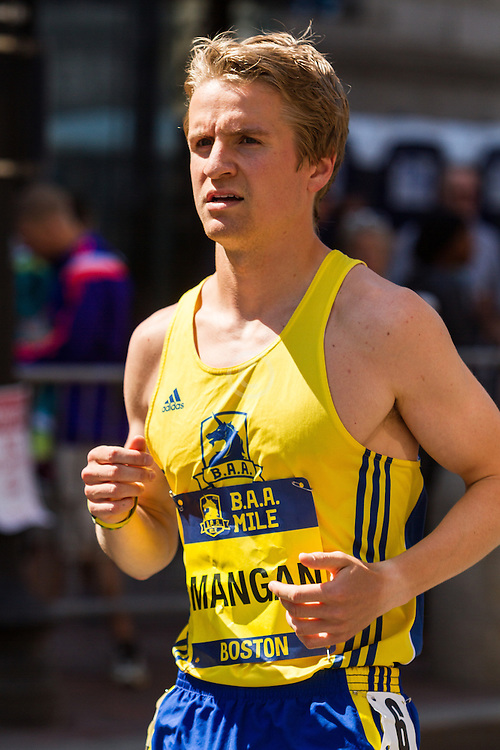 Boston Marathon: BAA 5K road race, Invitational Mens Mile, Mangan, BAA