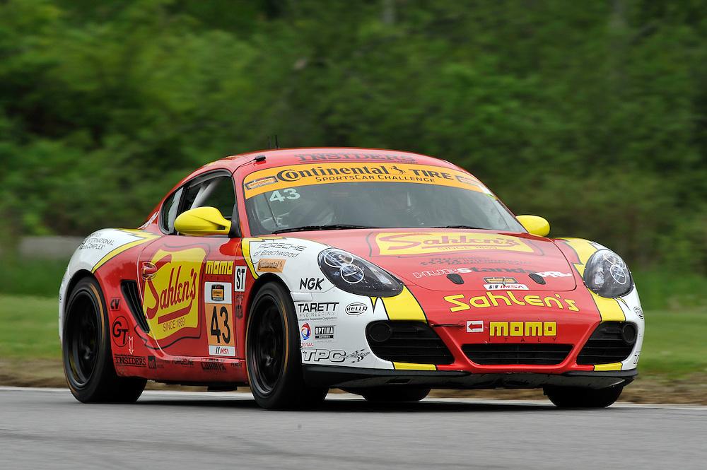 23-24 May, 2014, Lakeville, Connecticut USA<br /> 43, Porsche, Cayman, ST, Joe Sahlen, Joe Nonnamaker<br /> &copy;2014 Scott R LePage <br /> LAT Photo USA
