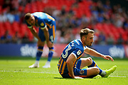 Shrewsbury Town midfielder Alex Rodman (23) gets up after missing a chance during the EFL Sky Bet League 1 play-off final match between Rotherham United and Shrewsbury Town at Wembley Stadium, London, England on 27 May 2018. Picture by Nigel Cole.