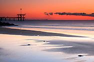 Burgas beach in November at dawn