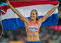 Athletics - 2017 IAAF London World Athletics Championships - Day Eight, Evening Session<br /> <br /> Womens 200m Final<br /> <br /> Dafne Schippers (Netherlands) winner of the 200m final at the London Stadium<br /> <br /> COLORSPORT/DANIEL BEARHAM