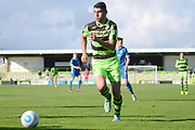 Forest Green Rovers forward Omar Bugiel (11) on the attack 0-1 during the Vanarama National League match between Forest Green Rovers and North Ferriby United at the New Lawn, Forest Green, United Kingdom on 1 April 2017. Photo by Alan Franklin.