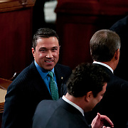 Speaker of the House Rep. John Boehner (R-OH), right, walks past Rep. Michael Grimm at the start of the 113th Congress on Thursday, Jan. 3rd, 2013 in Washington. (Photo by Jay Westcott/Politico)