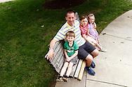 (from left) Eli, 4; Christian Taylor of Dayton; Bryce, 8; Lauren, 5 at Shafor Park in Oakwood, Sunday, June 9, 2013.