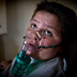 Lane Miller has trouble breathing and uses an inhaler and nebulizer for his lungs. Sierra Club is working with the Moapa Band of Paiutes to transition NV Energy away from the Reid Gardner coal-fired power plant -- which sits only 45 miles from Las Vegas and a short walk from community housing at the Moapa River Indian Reservation. The Reid Gardner coal plant is literally spewing out tons of airborne pollutants such as mercury, nitrous oxide, sulfur dioxide, and greenhouse gases. This has resulted in substantial health impacts on the Moapa community, with a majority of tribal members reporting a sinus or respiratory ailment.