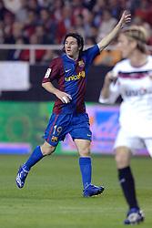 03-03-2007 VOETBAL: SEVILLA FC - BARCELONA: SEVILLA  <br /> Sevilla wint de topper met Barcelona met 2-1 / Lionel Messi<br /> &copy;2006-WWW.FOTOHOOGENDOORN.NL