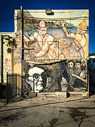 Mural in alley near Miami's NE 2nd Avenue