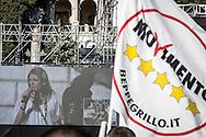 Roma, Lazio, Italia, 03/06/2016<br /> Alcuni momenti del comizio finale di Virginia Raggi, candidata del Movimento 5 Stelle alle elezioni comunali, a Piazza del Popolo<br /> <br /> Rome, Lazio, Italy, 03/06/2016<br /> Some moments of the final meeting of Virginia Raggi, candidate of Five Stars Movement for local elections, in Piazza del Popolo (People's square)