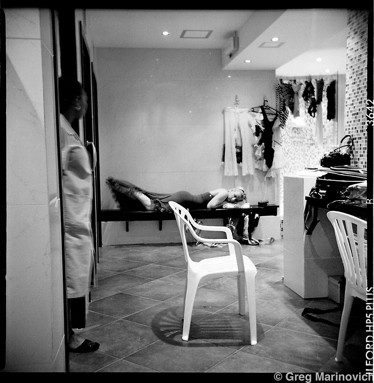 Portrait of a white plastic chair #3, The Grand, Johannesburg, South Africa, 2006. Photograph by Greg Marinovich