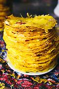 "Banh xeo ""pancakes"" at Bale Well restaurant, Hoi An, Vietnam"
