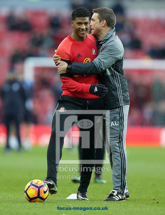 Sunderland player Patrick van Aanholt  during the warm up prior to the Premier League match at the Stadium Of Light, Sunderland<br /> Picture by Christopher Booth/Focus Images Ltd 07711958291<br /> 03/12/2016