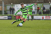 Forest Green Rovers Charlie Cooper(20) shoots at goal during the Vanarama National League match between Forest Green Rovers and Macclesfield Town at the New Lawn, Forest Green, United Kingdom on 4 March 2017. Photo by Shane Healey.