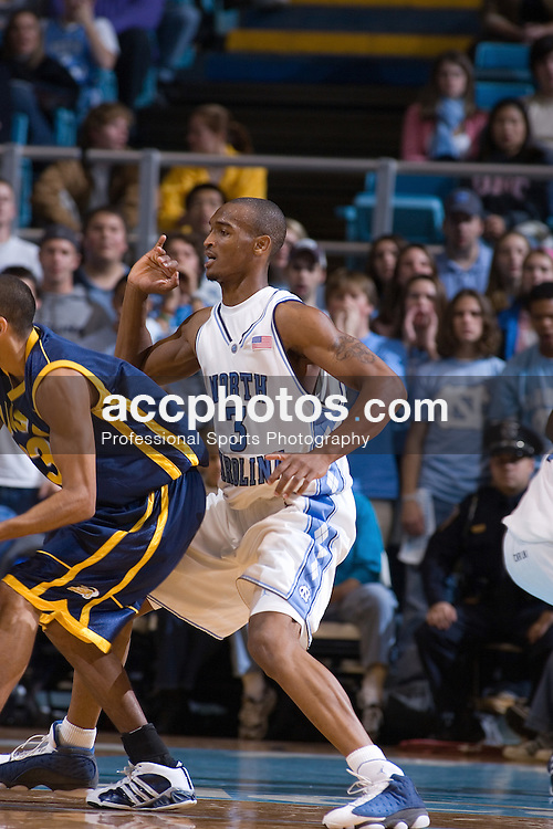 25 November 2005:  Reyshawn Terry (3) during a North Carolina Tarheels'  83-66 victory over the University of California - Santa Barbara in the Dean Smith Center in Chapel Hill, NC.