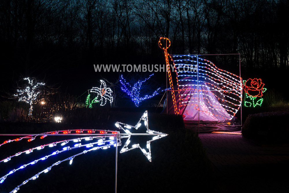 Montgomery, New York - Holiday Lights in Bloom at the Orange County Arboretum on Dec. 21, 2015.