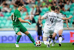 Branko Ilic of NK Olimpija Ljubljana and Howard Beverland of FC Crausaders during 1st Leg football match between NK Olimpija Ljubljana and FC Crausaders in 2nd Qualifying Round of UEFA Europa League 2018/19, on July 26, 2018 in SRC Stozice, Ljubljana, Slovenia. Photo by Urban Urbanc / Sportida
