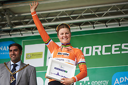 Stage winner, Amalie Dideriksen (DEN) at OVO Energy Women's Tour 2018 - Stage 4, a 130 km road race from Evesham to Worcester, United Kingdom on June 16, 2018. Photo by Sean Robinson/velofocus.com