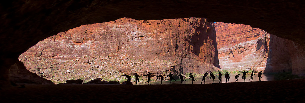 Red Wall cavern is a must stop for river runners  on the Colrado River, Grand CAnyon National Park.